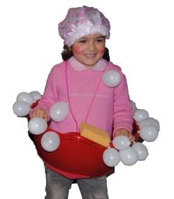 Disfraz baño de burbujas Lucia