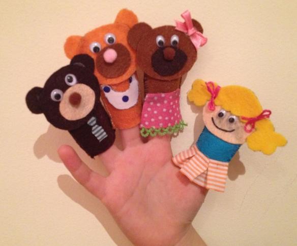 Marionetas de dedo caseras