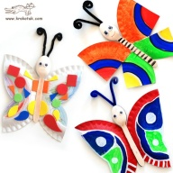 Platos papel_mariposas