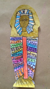 Sarcofago egipcio  Lucia